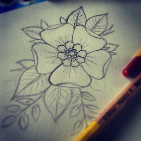 flower tattoo flower draw tattoo drawings design pinterest. Black Bedroom Furniture Sets. Home Design Ideas