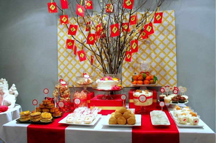 Chinese New Year party dessert table | Party Ideas