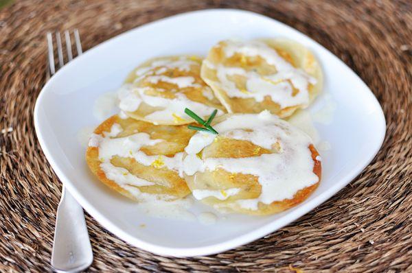 Lemon And Goat Cheese Ravioli Recipe — Dishmaps