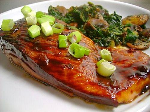 Honey Teriyaki Salmon   Recipes   Pinterest