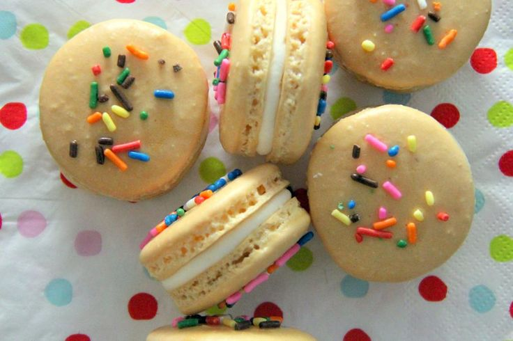 Oh My Pancake!: Birthday Cake Macarons  Jenells board  Pinterest
