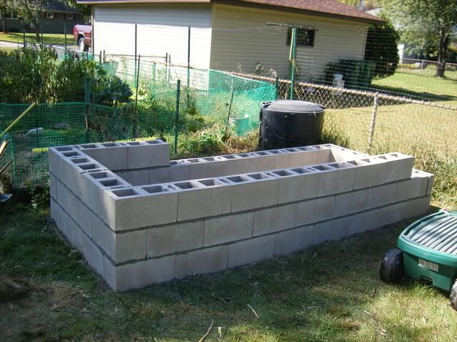 Making A Cinder Block Raised Bed Garden Garden Pinterest