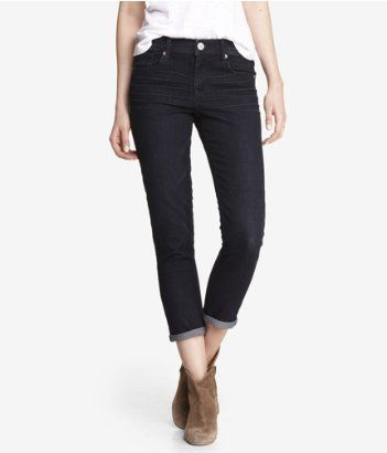 black jeans with cuffs