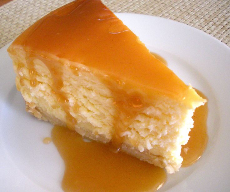 Classic Cheesecake with Salted Caramel Sauce | Recipe