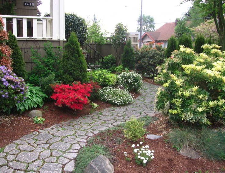 Garden stone pathway wanting in my landscape pinterest - Pictures of stone pathways ...