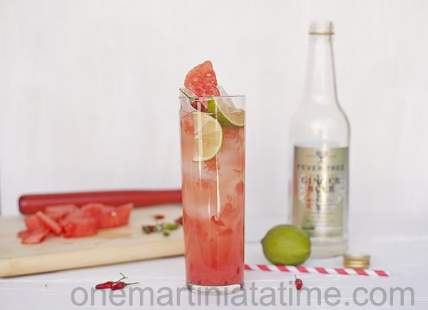 Spicy Watermelon Cooler {with Thai Chili Infused Tequila}