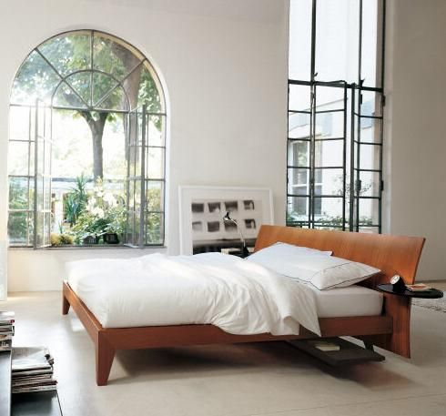 Wood Contemporary Solid Wood Bedroom Furniture Design Classic Round