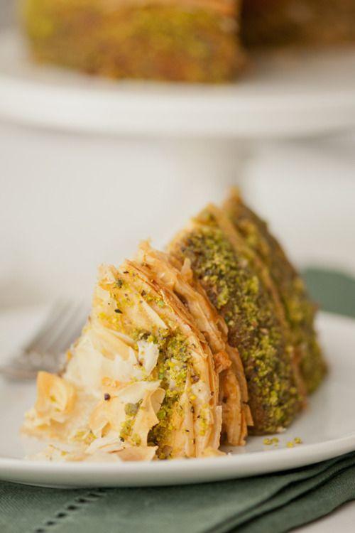 Pistachio Baklava Cake | Gateaux | Pinterest
