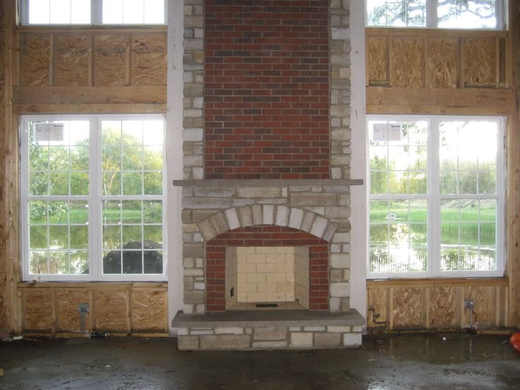 Brick With Stone Fireplace Dream House Pinterest