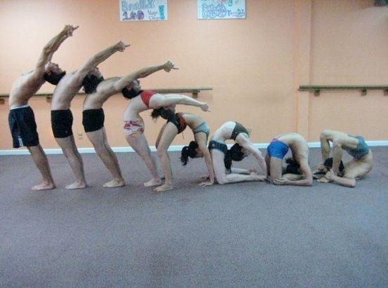Evolution of a backbend yoga
