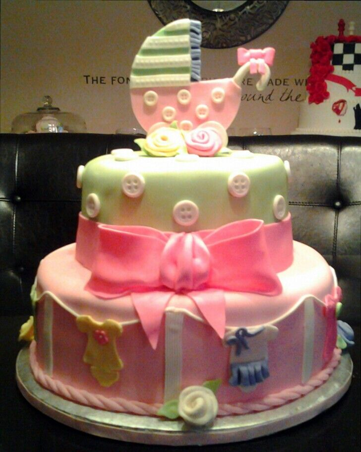 Baby Shower Clothesline Cake