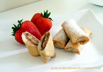 Chocolate Spring Rolls made with Twix bars. Can't wait to try this ...