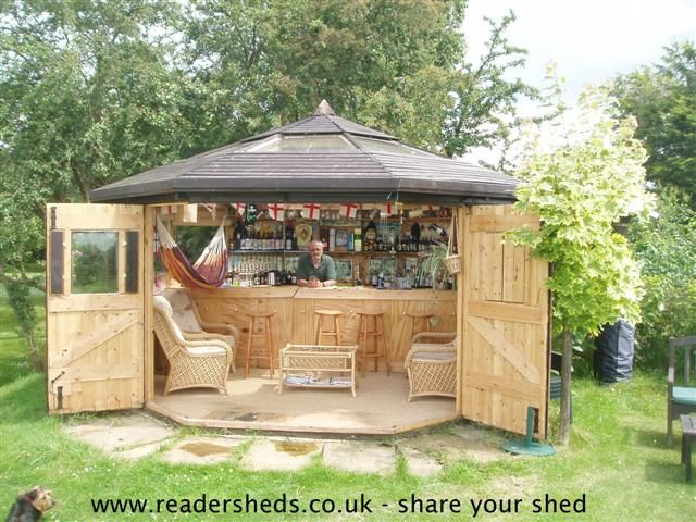 Bar shed  Backyard landscaping  Pinterest