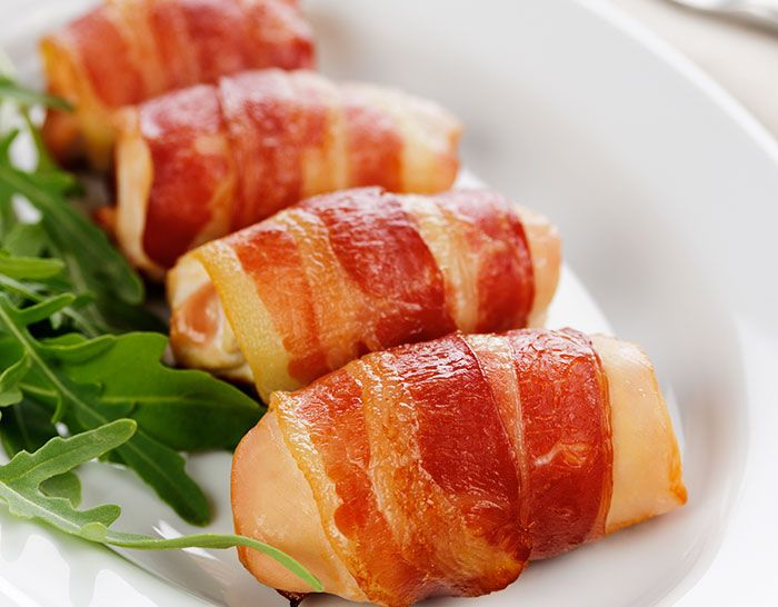 Bacon Wrapped Feta and Spinach Stuffed Chicken Breasts - The Cooking ...
