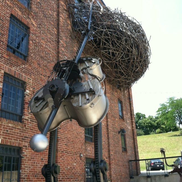 Outside the American visionary art museum, Baltimore Md