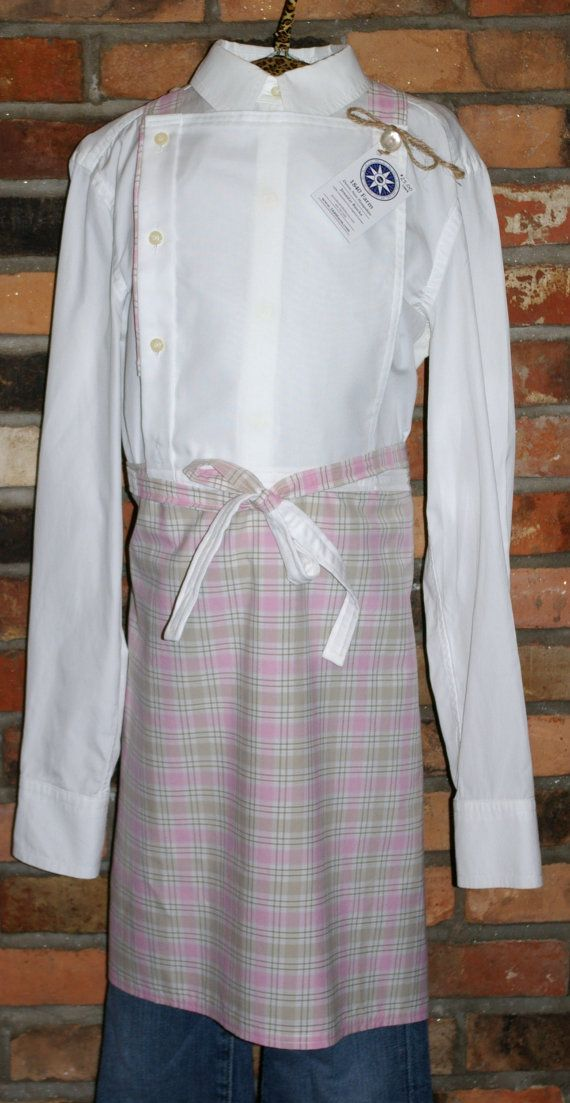 Farmhouse Apron from 1840 Farm made from repurposed mens dress shirts ...