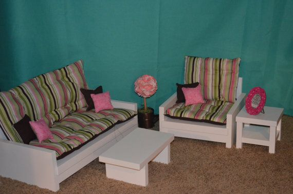 February special living room set for american girl doll sofa cha