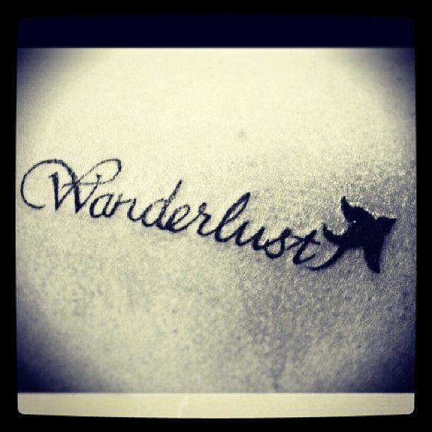 Wanderlust Tattoo With Bird