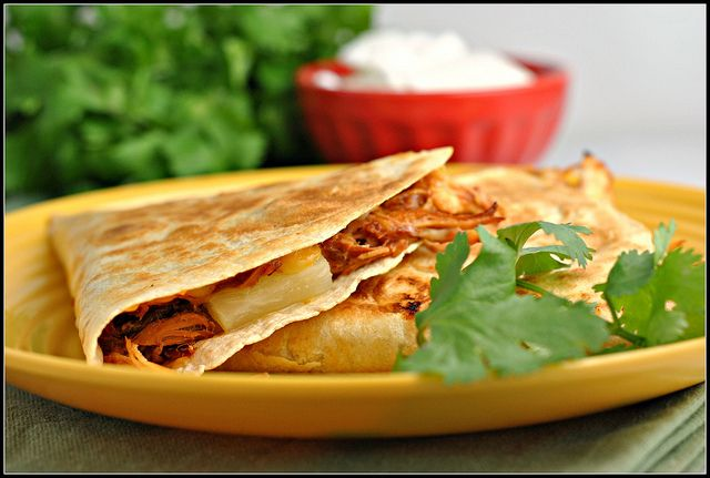bbq chicken pineapple quesadilla | Bow Chicken Wow Wow | Pinterest