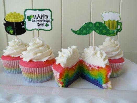 How to Make Bright Rainbow Cupcakes • CakeJournal.com