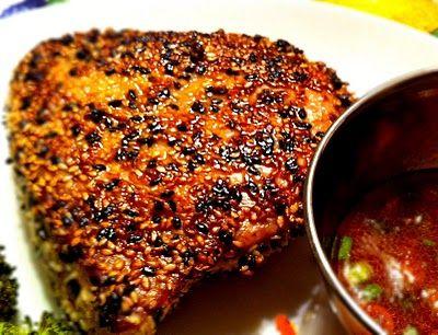 Sesame Seared Tuna with Wasabi-Ponzu Sauce