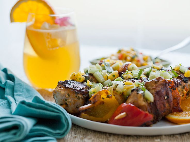 Spicy Chicken Thighs With Cucumber Orange Salsa Recipes — Dishmaps