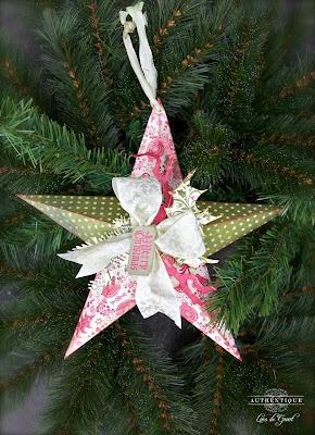 Festive Ornament by Authentique Paper Design Team Member Loes de Groot