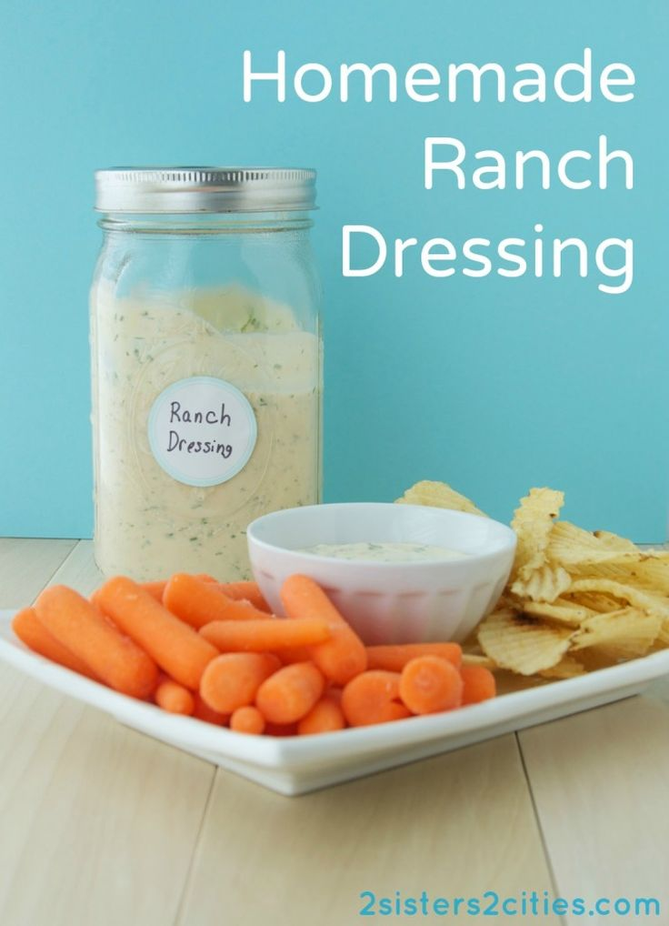 Homemade Ranch Dressing and Dipping Sauce {from 2 Sisters 2 Cities ...