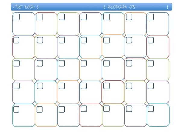 meal planner template | Monthly Meal Planner {click to enlarge}