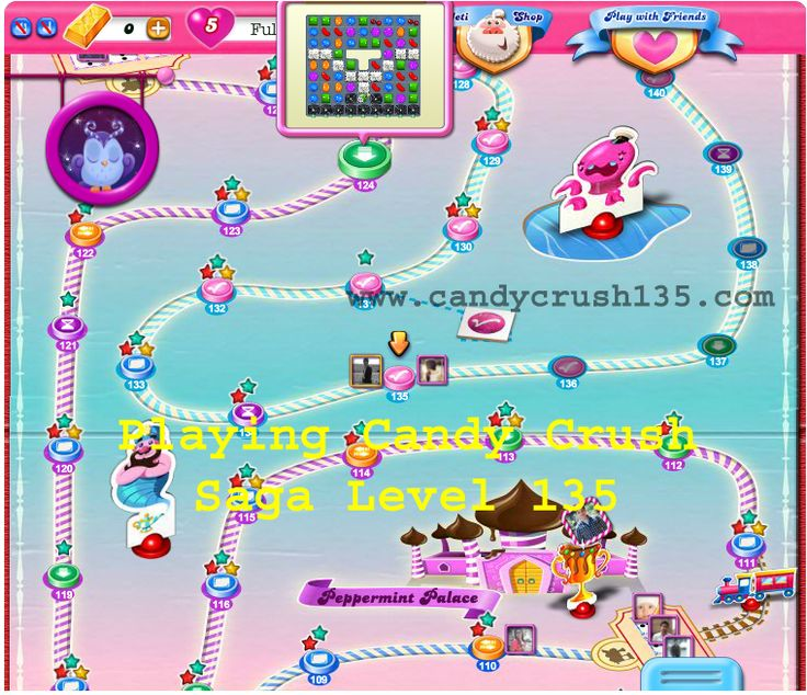 Image is showing that I am on Level 135.