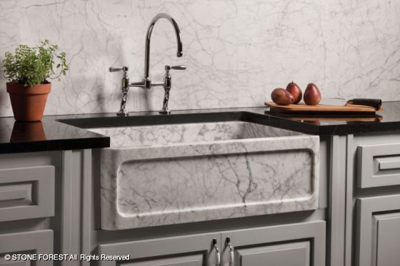 Farmhouse & Prep Sinks New Haven Farmhouse Sink Available at Kenny