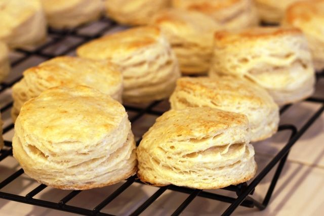 Homemade Flaky Layer Biscuits. | Bon Appetite - Breads | Pinterest