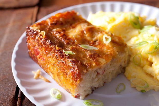 Potato and Bacon Breakfast Casserole Recipe - CHOW... I think I will ...