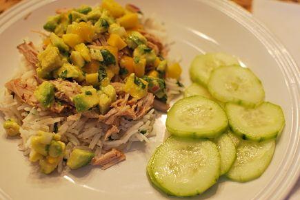 jerk pork with caribbean salsa | Crock Pot Recipes | Pinterest