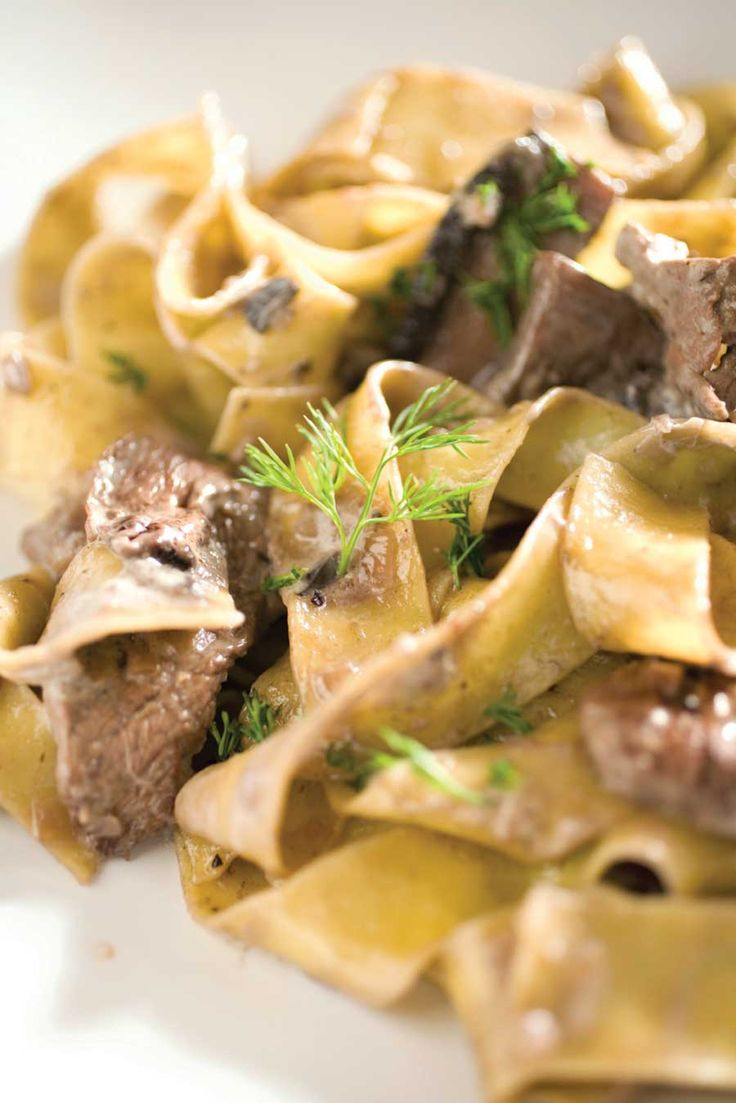 Pair this easy beef stroganoff recipe with some creamy noodles, and ...