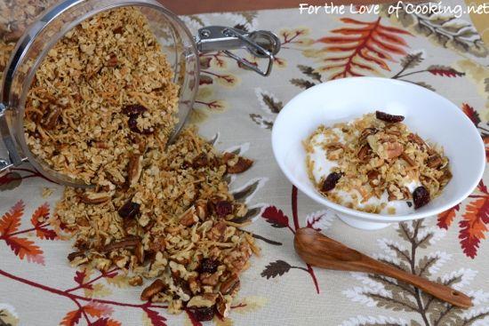 Pecan, Coconut, and Cherry Granola | Favorite Recipes | Pinterest