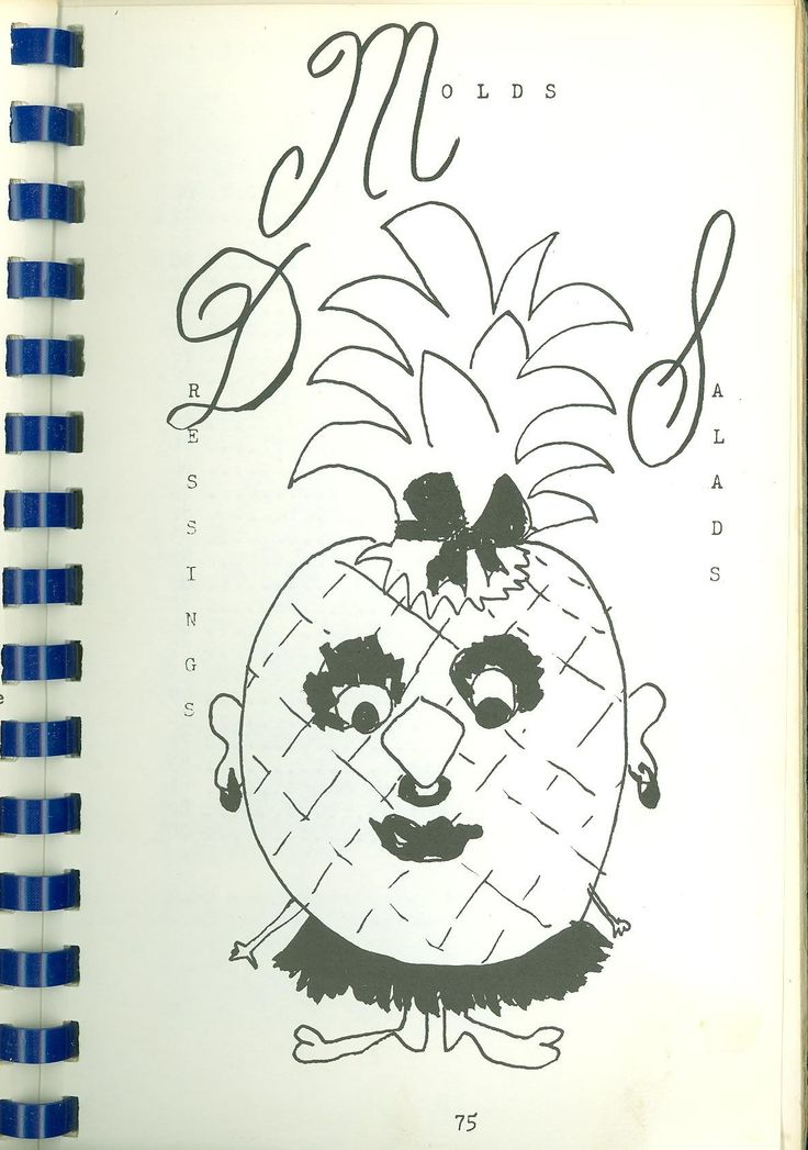 "Cover page of chapter of molds, salads, and dressings. From ""A Pinch of This and a Dash of That"" (Montgomery County Jewish Community Center Sisterhood, c. 1955)"