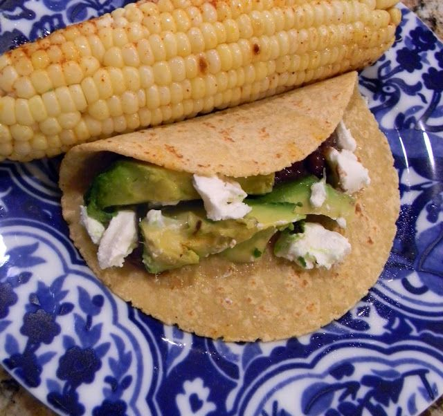 schue love: Grilled Avo + Goat Cheese Tacos