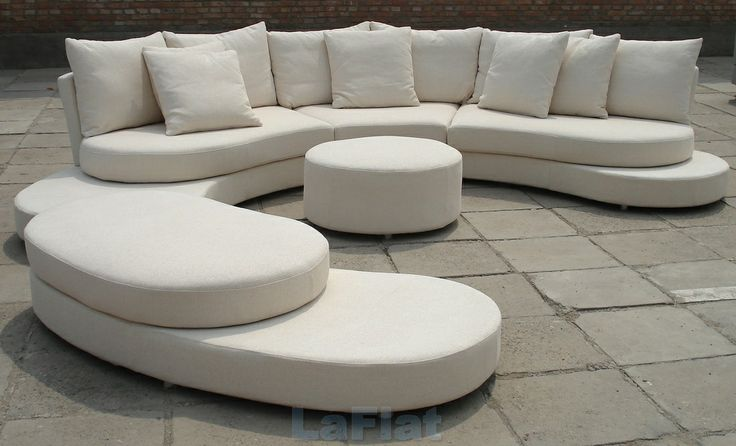 Curved White Sofa From Statement Sofas Products I Love
