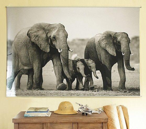 elephant mural pottery barn kids bebe pinterest. Black Bedroom Furniture Sets. Home Design Ideas