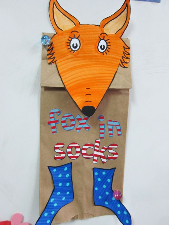 fox in sox puppets