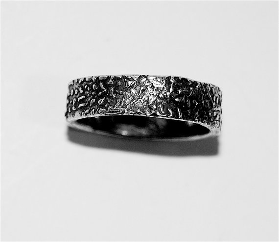 Ring Fine Silver Narrow Band Mudcloth Edgewater by codysanantonio, $55.00