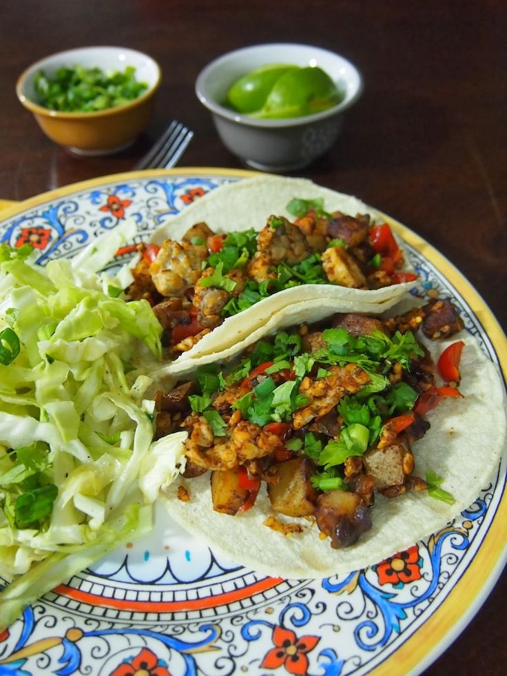 Chorizo Tempeh Tacos