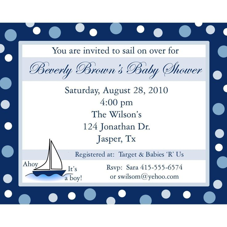 boys  50 Personalized Baby Shower Invitations AHOY ITS A BOY Nautical