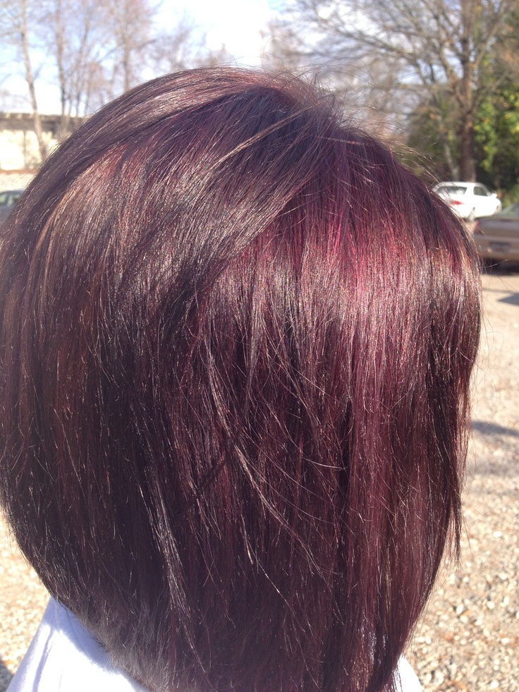 Violet brown hair color dark brown hairs