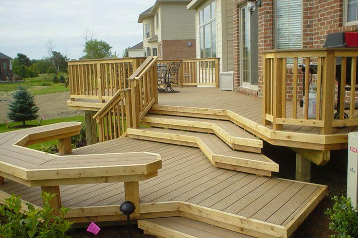MultiLevel Deck in Michigan  Backyard deck  Pinterest