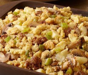 Apple and Sausage Cornbread Stuffing | Delicioso! | Pinterest