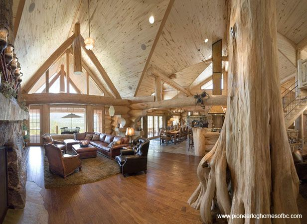 Courtesy Of Pioneer Log Homes Of B C Log Home Interiors Pinterest