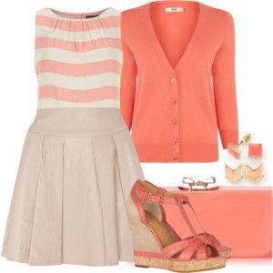 Coral and Peach