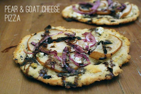 Pear & Goat Cheese Pizza | tasty and delicious | Pinterest